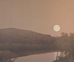 Moonrise over roaring fork