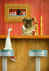 Brew Pug, by Will Bullas, at Gallery 601