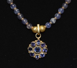 Iolite with Gold Plate Pendant Detail