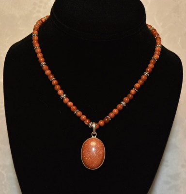 Brown Sandstone with Oval Pendant
