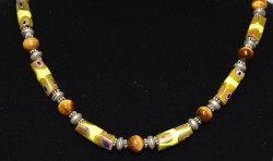 Trade Bead Yellow Tiger Eye Detail