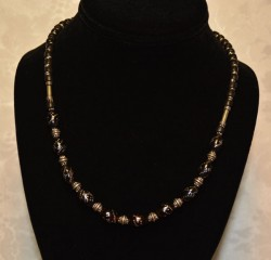 Black Coral with Silver