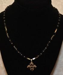 Onyx Flower Pendant