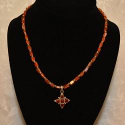 Carnelian Cross Pendant