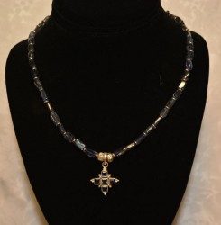 Iolite Cross Pendant