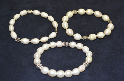 Pearl with Silver Bracelet