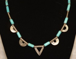Turquoise with Twin Envelope Detail