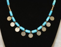 Turquoise with Flat Amulet Detail