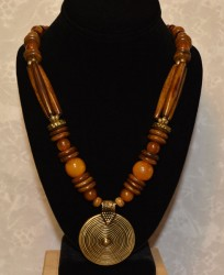 Camelbone/Resin Necklace with Pendant