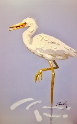 E is for Egret