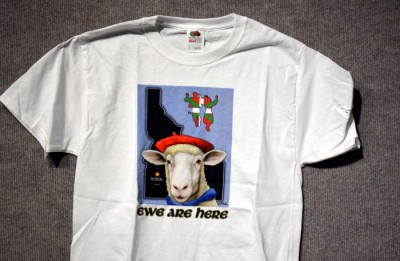 Ewe Are Here T-web