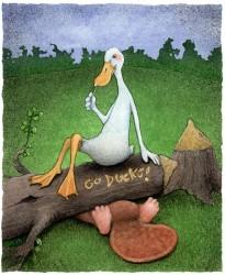 Go Ducks, by WIll Bullas, Oregon Ducks Print, at Gallery 601
