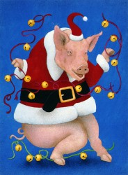 PiggySantaWithBells-web
