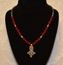 Red Amber Ethiopian Cross