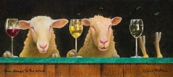 Three Sheeps to the Wind, Wine Version, by Will Bullas, at Gallery 601