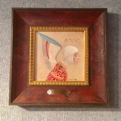 angel with epaulet framed