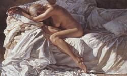 blending into shadows and sheets