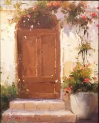brown door detail
