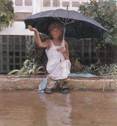 catching the rain