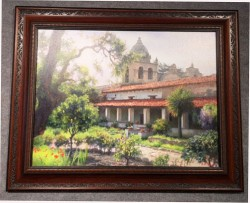 Carmel Mission Garden framed