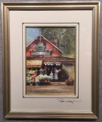 paul flower market framed
