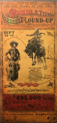 pendleton round up poster
