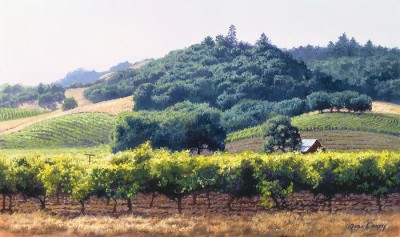 summer vineyard by June Carey