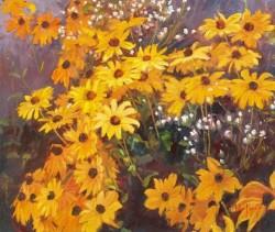 yellow daisy garden 37x31