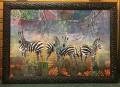 zebra Patchwork framed